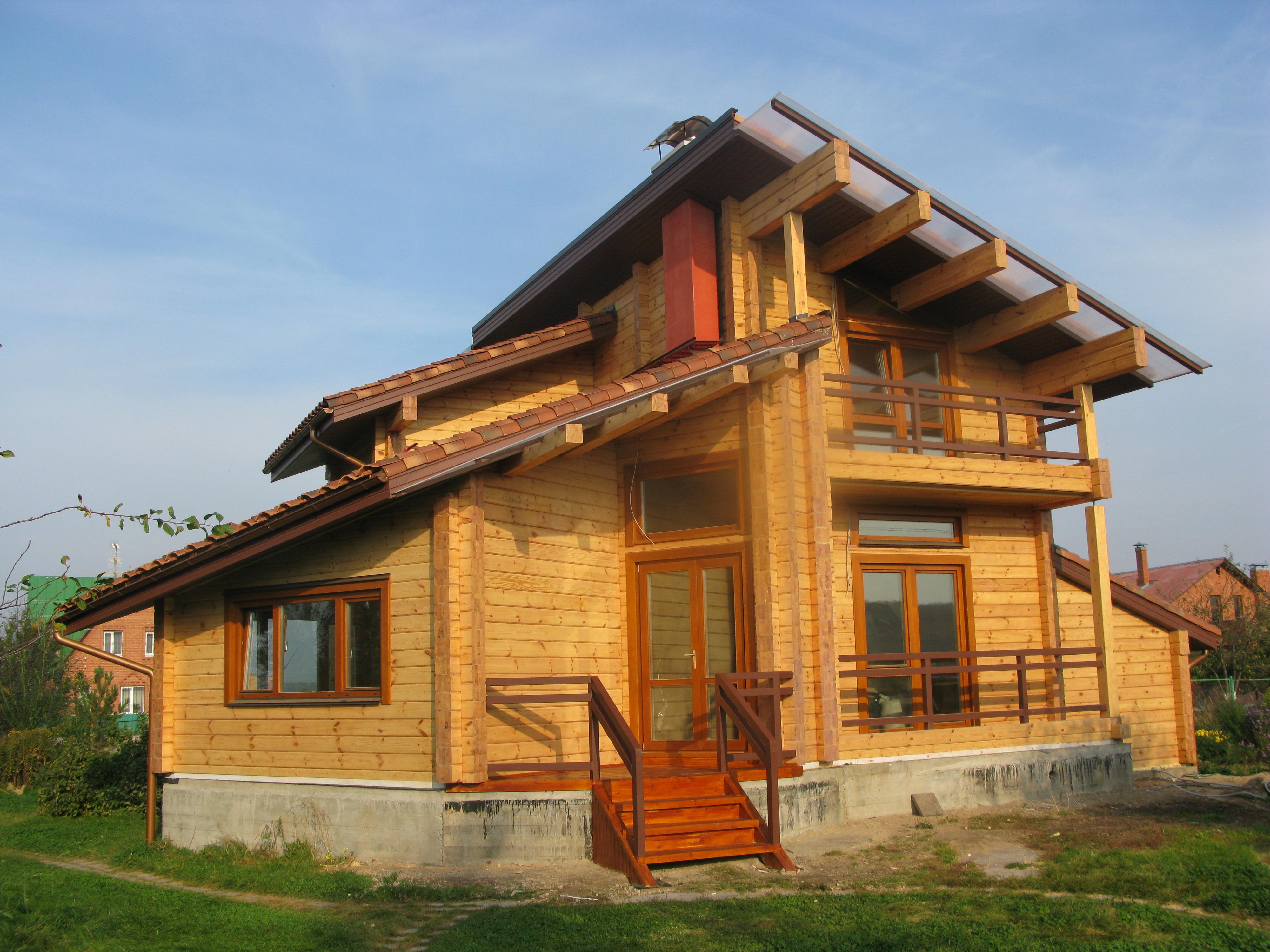 дома из клеёного бруса в москве